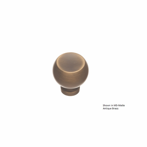 Colonial Bronze 183 Solid Brass Knob Diameter-1 1/4 inch Projection-1 1/4 inch