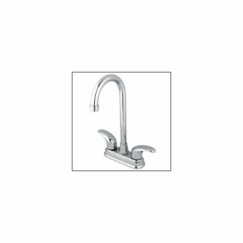 "Kingston Brass KB6491LL Legacy Twin Brass Lever Handles Faucet 4 "" Center Polished Chrome"