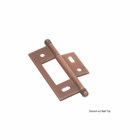 Colonial Bronze nmh925 Solid Brass Non-Mortised Cabinet Hinge Size - 2 1/2 inch x 7/8 inch (Sold per pair)