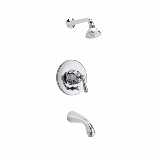 Rohl RBKIT8LM-APC **KIT** ROHL COUNTRY BATH VERONA PRESSURE BALANCE SHOWER AND BATH TUB PACKAGE IN POLISHED CHROME WITH METAL LEVER INCLUDES C1703 C5504 AND ARB2400LM