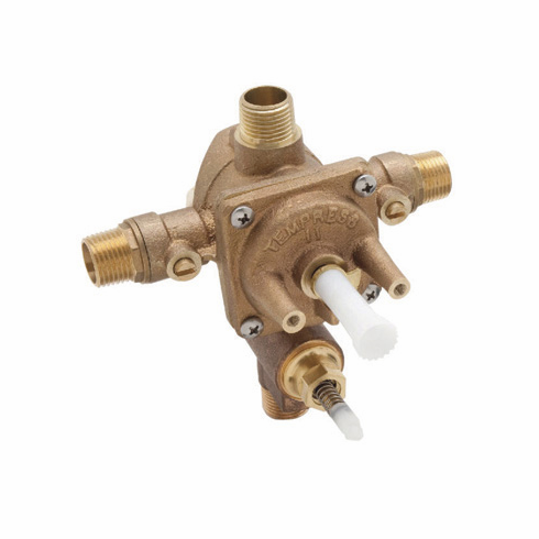 ROHL RMV-2 Modular Pbv 4 Port Rohl Pressure Balance Rough Valve Only With Integrated Service Stop Valves And With Integrated Manual Diverter Four Port Mixer