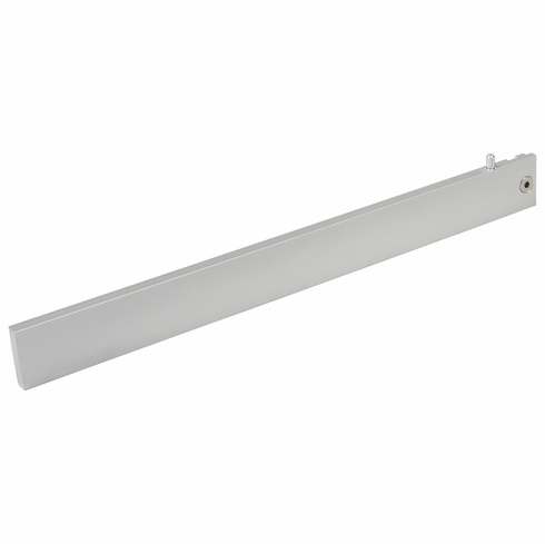 Hafele 774.40.953 21C Wall System, shelf bracket, aluminum natural anodized, length 12 inches (each)