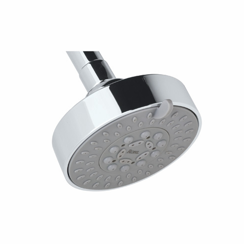 ROHL SOF134STN Rohl Ecomodern Five Function 4^ Diameter Showerhead With 1/2^F Swivel Inlet Flexible Spray Nozzles And 1.75 Gpm Flow Rate In Satin Nickel Made Of Abs