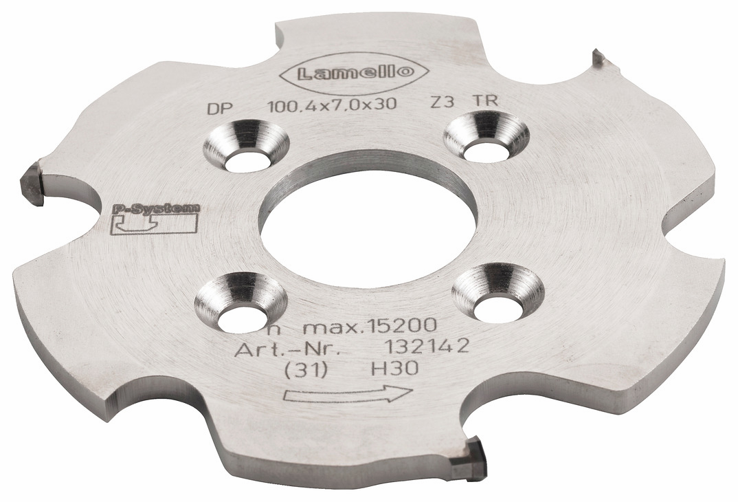 Hafele 002.18.012 Clamex P T-Groove Diamond Cutter, for CNC, 100.4 x 7 x 30 mm bore (each)
