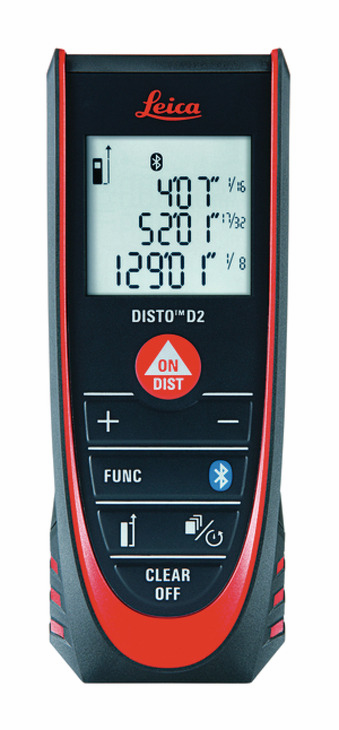 Hafele 002.84.536 Laser Distance Meter, Leica Disto D2, with bluethood technology (each)