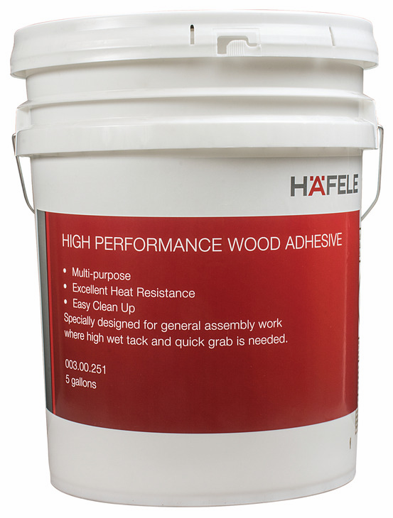 Hafele 003.00.251 High Performance, white, wood adhesive, 5 gallon (each)