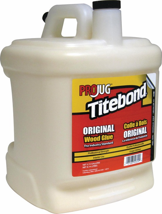 Hafele 003.15.004 Titebond PROJug, original wood glue, 2.15 gallons (each)