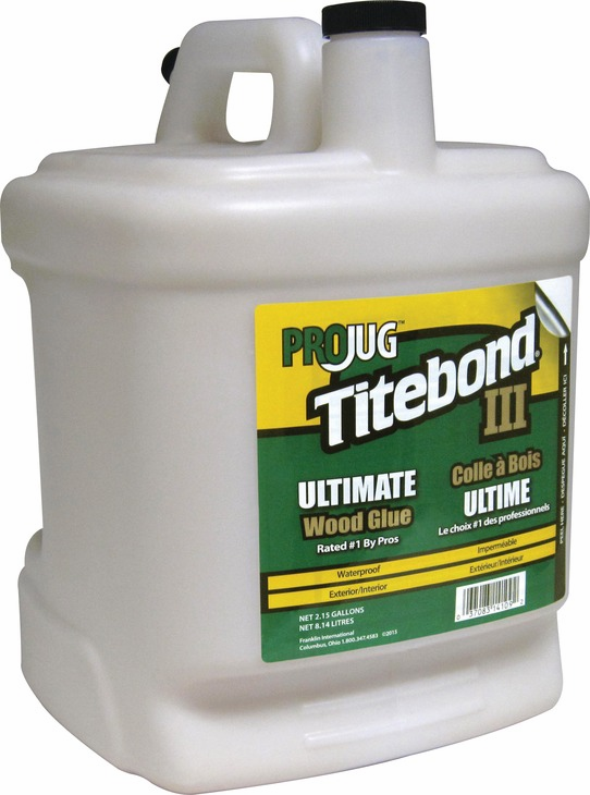 Hafele 003.15.063 Titebond III PROJug, ultimate wood glue, 2.15 gallons (each)