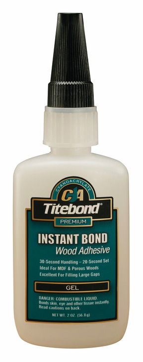 Hafele 003.50.290 Titebond Instant Bond, wood adhesive, gel, 2 ounce bottle (each)
