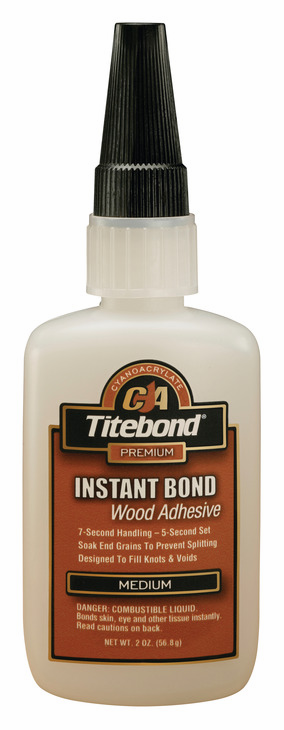 Hafele 003.50.292 Titebond Instant Bond, wood adhesive, medium, 2 ounce bottle (each)