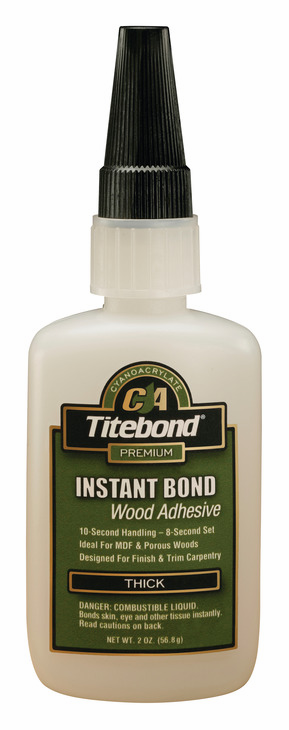 Hafele 003.50.294 Titebond Instant Bond, wood adhesive, thick, 2 ounce bottle (each)