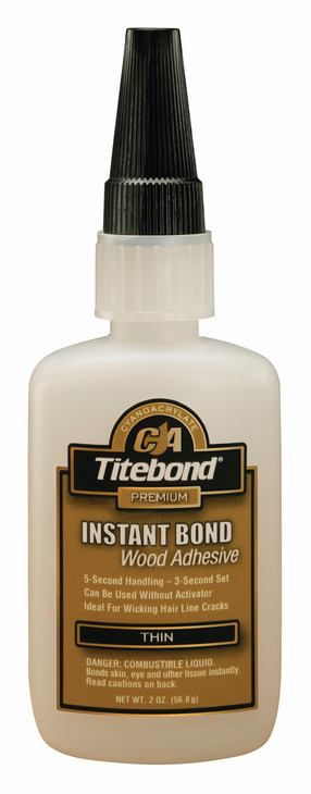 Hafele 003.50.296 Titebond Instant Bond, wood adhesive, thin, 2 ounce bottle (each)
