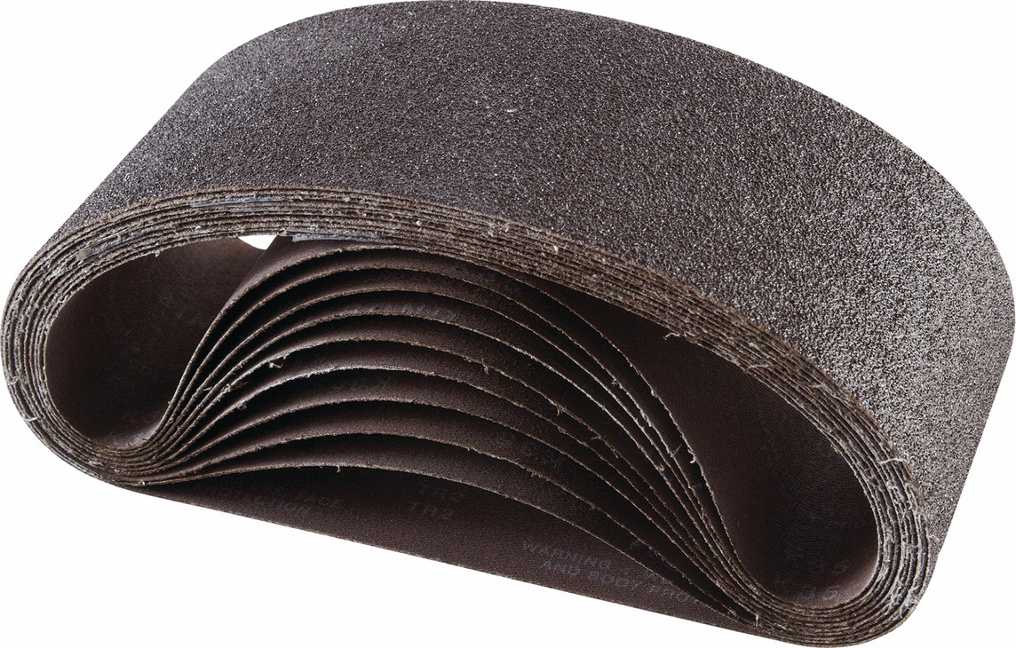 "Hafele 005.32.016 Portable Belt, 3"" x 18"", aluminum oxide, 60 grit, resin cloth, 10 per pack"