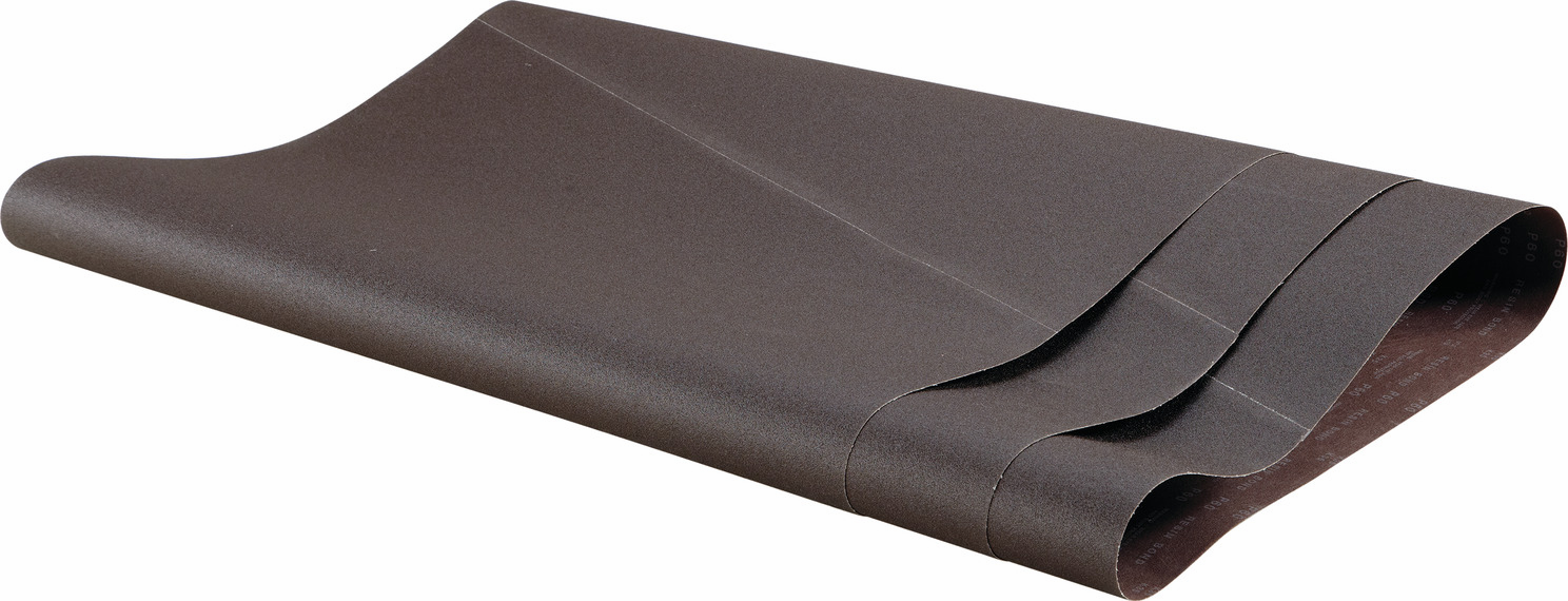 "Hafele 005.32.989 Wide Belt, 43"" x 85"", aluminum oxide, 80 grit, open coat, resin cloth, 3 per package"