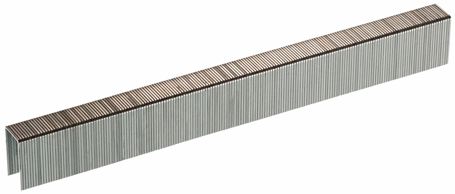"Hafele 006.50.014 Senco C10BAAP 22 gauge x 3/8"" crown x 5/8"" chisel point staple galvanized"