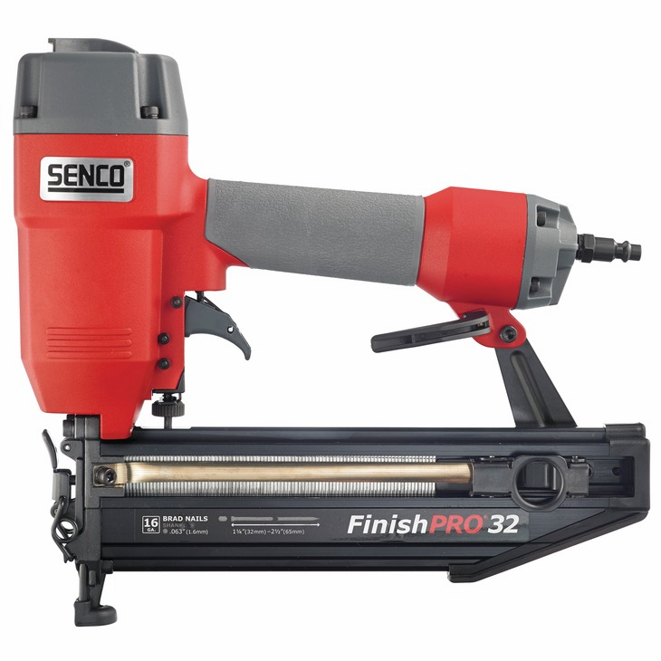 "Hafele 006.50.225 Senco Finish Pro 32 16 gauge x 2 1/8"" T-head straight strip finish nailer (each)"