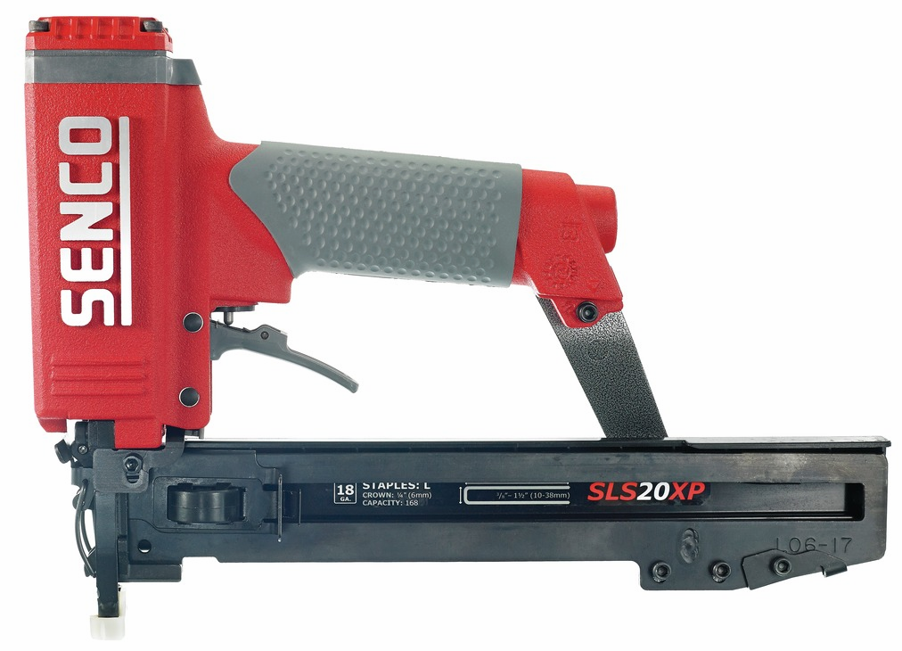 "Hafele 006.50.290 Senco SLP20XP 18 gauge x 2"" medium head straight strip brad nailer with case"