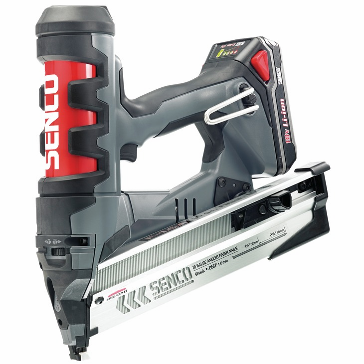 "Hafele 006.50.920 Senco Fusion F-16 16 gauge x 2 1/2"" T-head straight strip finish and trim nailer (each)"