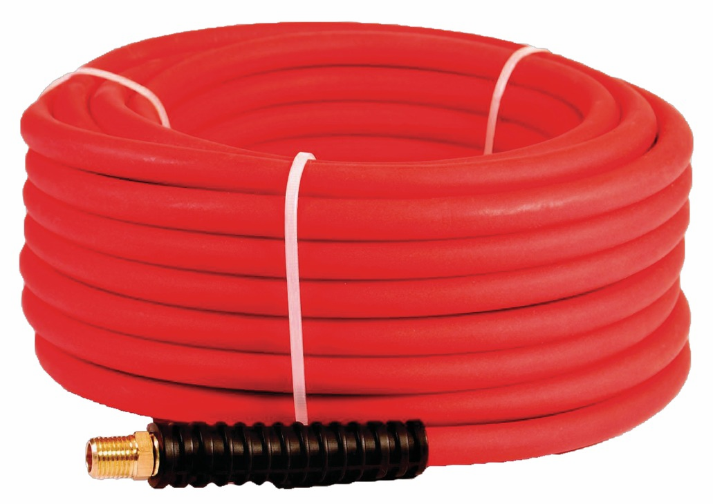 "Hafele 006.50.970 Senco PC0977 ProFlex 50' reinforced polyurethane red air hose, 1/4"" MPT"