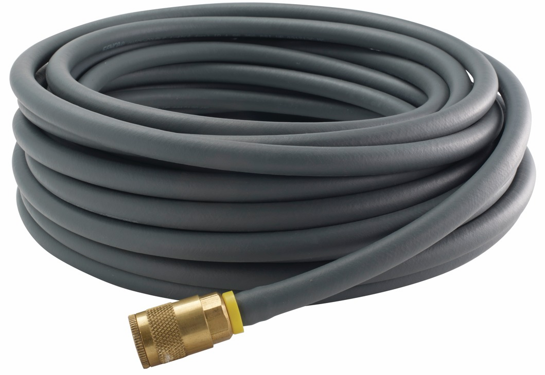 "Hafele 006.50.971 Senco PC0064 industrial 50' rubber gray air hose, 1/4"" MPT"