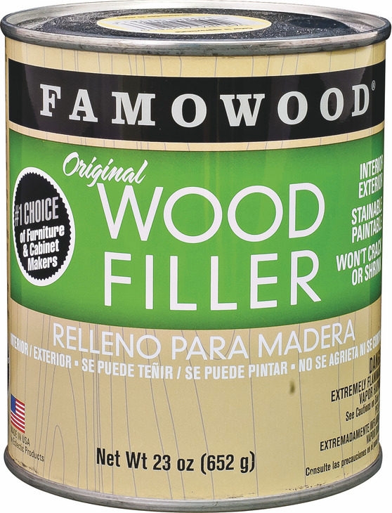 Hafele 007.39.200 Famowood Original Wood Filler, ash, 1/4 pint, 6 per case (6 pcs/pkg***)