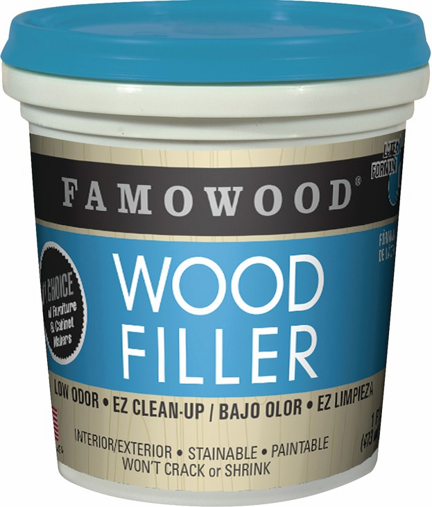 Hafele 007.39.570 Famowood Latex Wood Filler, cherry / dark mahogany, pint (each)