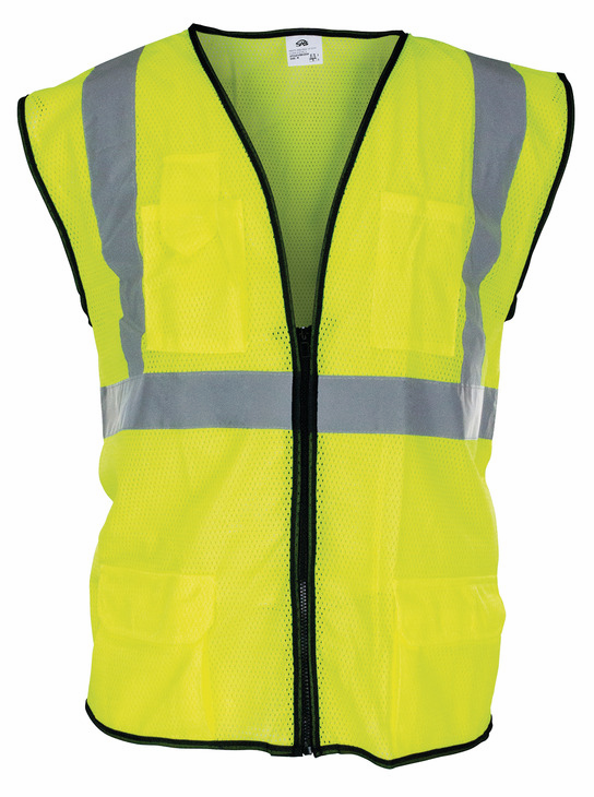 Hafele 007.46.018 Class 2 Safety Vest, 100% polyester fluorescent yellow, large (each)