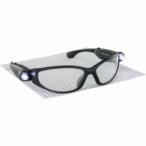 Hafele 007.48.048 00748048 Safety Glasses, lightcrafters Readers with LED lights, 3.0 magnification, anti-fog and scratch resistance lens
