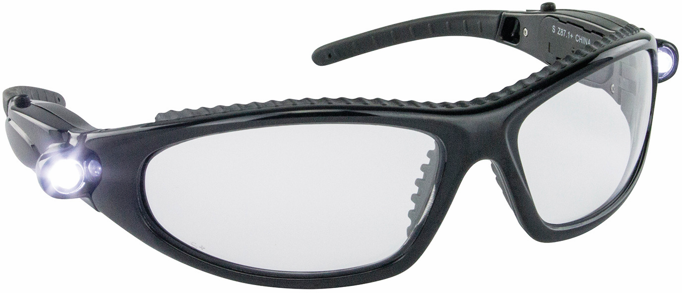 Hafele 007.48.049 Safety Glasses, LED Inspectors, anti-fog and scratch resistance lens (each)