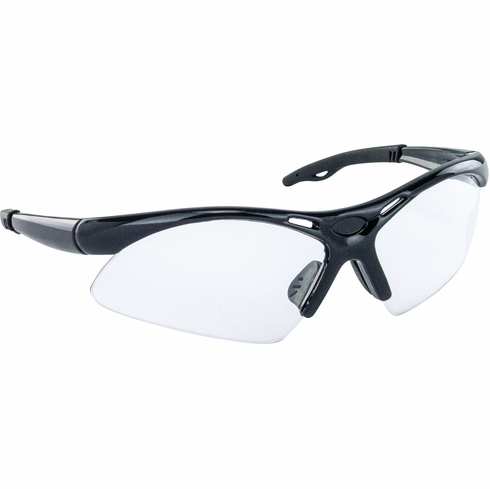 Hafele 007.48.051 00748051 Safety Glasses, Diamondbacks, black wrap-around frame, anti-fog and scratch resistance lens