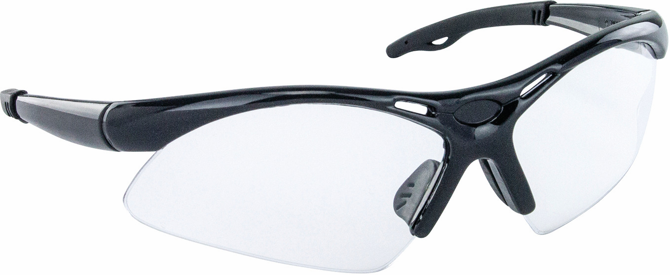 Hafele 007.48.051 Safety Glasses, Diamondbacks, black wrap-around frame, anti-fog and scratch resistance lens (each)