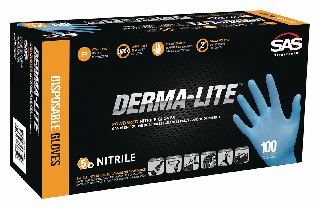 Hafele 007.64.172 Gloves, Nitrile, powder free, disposable, 5 mil., size medium
