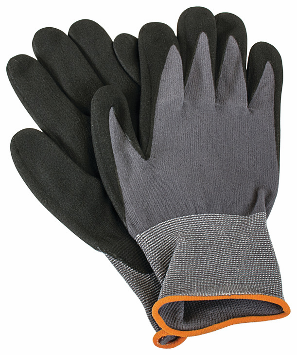 Hafele 007.64.581 Stealth Glove, black nitrile coated, nylon/spandex blend, small (1 pair)