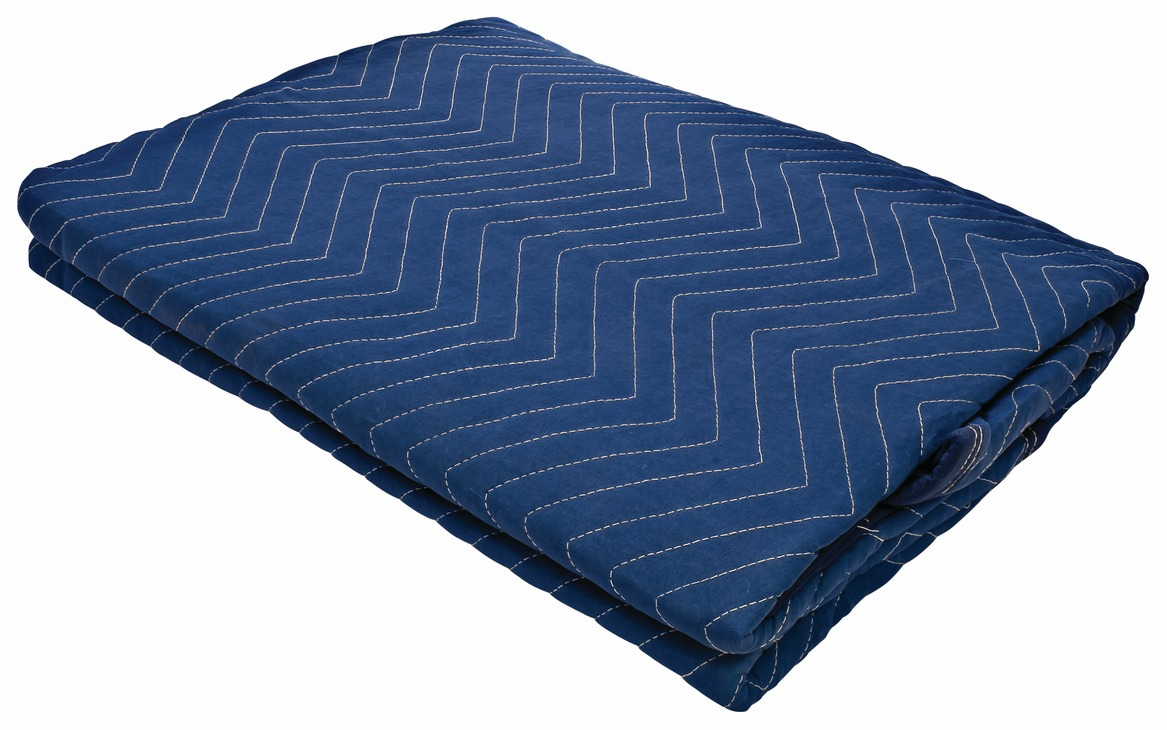 "Hafele 007.80.106 Premium Quilted Moving Blanket, 72"" x 80"", 100% woven polyester, blue, 12 per pack (12 pcs/pkg***)"