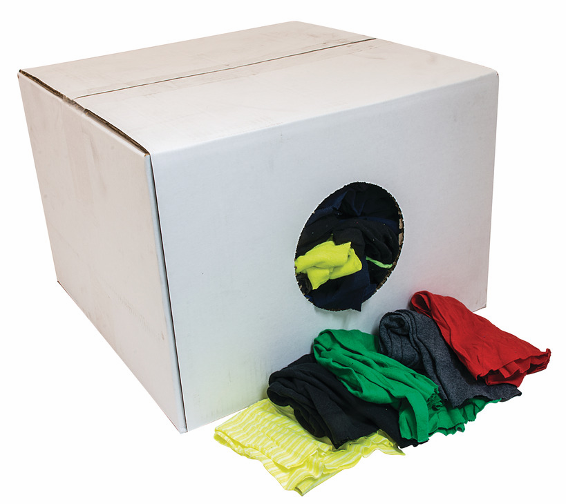 Hafele 008.54.588 T-Shirt, colored pre-washed cotton knits, 25 pound box