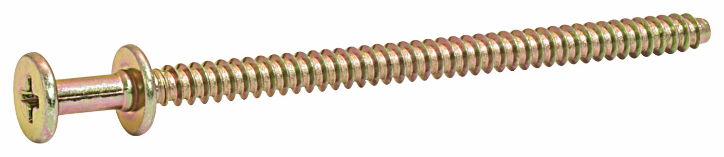 "Hafele 019.07.040 Screw, #8 X 2 3/4"", double pan head, phillips drive, gold, zinc, bulk (1800 pcs/pkg***)"