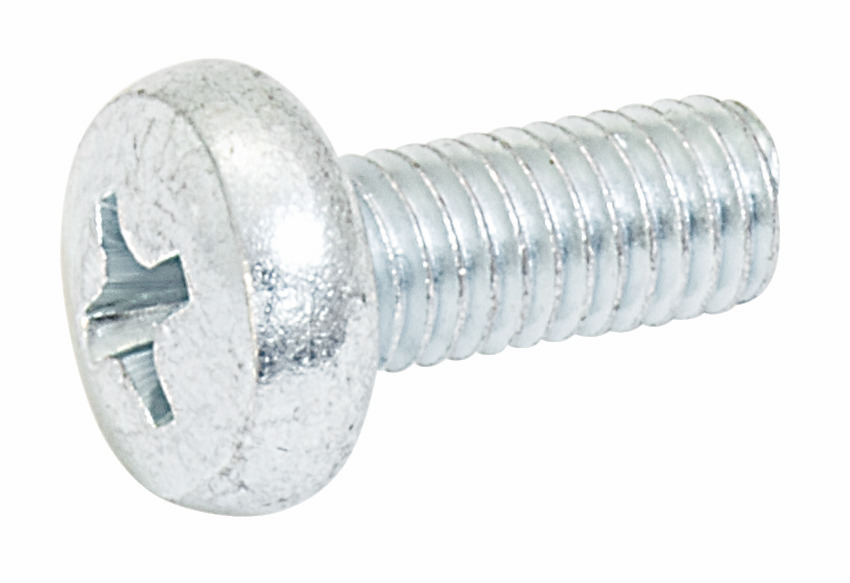 Hafele 020.92.760 Screw, pan head, steel, nickel plated, M5 x 12mm (100 pcs/pkg***)