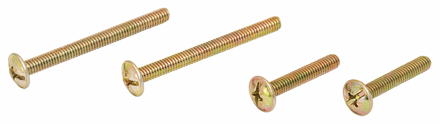 Hafele 022.25.259 Screw, Deco Pack, 8-32 x 25mm, 8-32 x 45mm, 2 pieces each