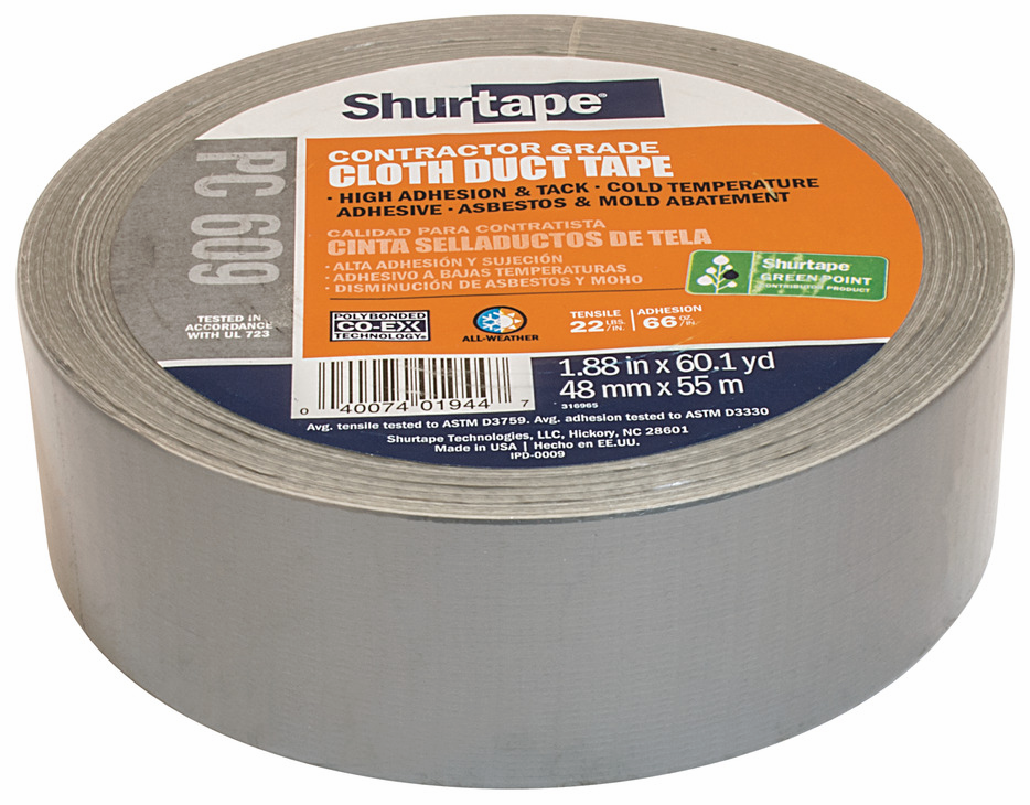 Hafele 079.00.130 Contractor Grade Cloth Duct Tape, 48mm x 55m (each)