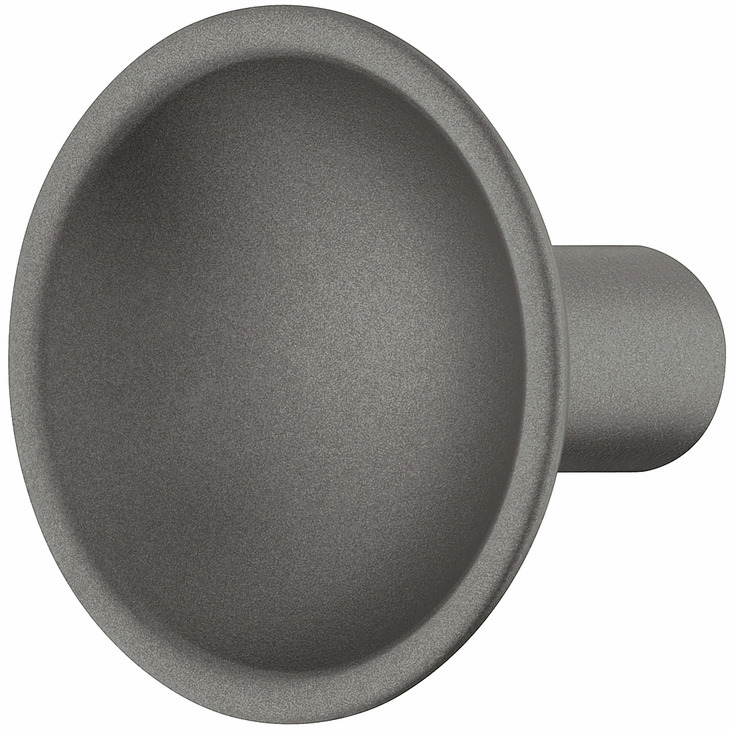Hafele 106.65.450 Knob, Eclipse, zinc, anthracite, 130ZN34, M4, 35mm diameter (each)