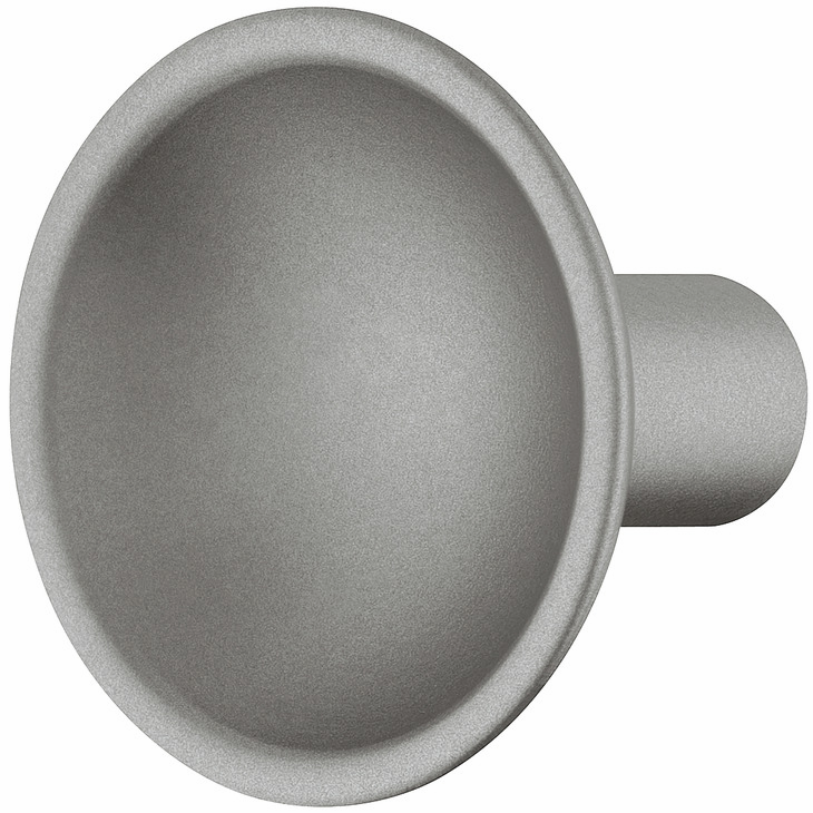 Hafele 106.65.650 Knob, Eclipse, zinc, silver matt, 148ZN34, M4, 35mm diameter (each)