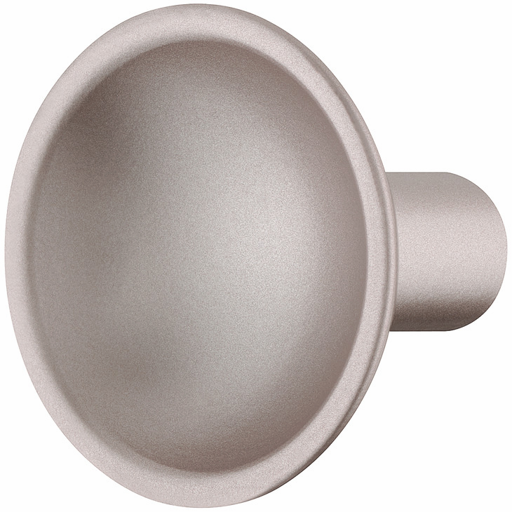 Hafele 106.65.750 Knob, Eclipse, zinc, rose silver, 153ZN34, M4, 35mm diameter (each)