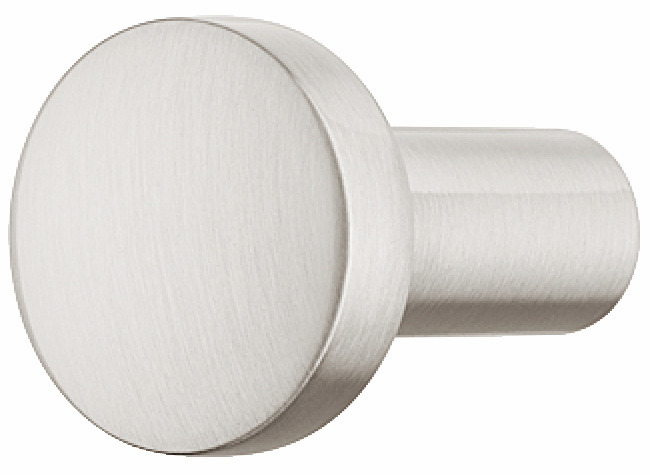 Hafele 110.35.671 Knob, Nouveau, zinc, brushed nickel, 102ZN24, M4, diameter 20mm (each)