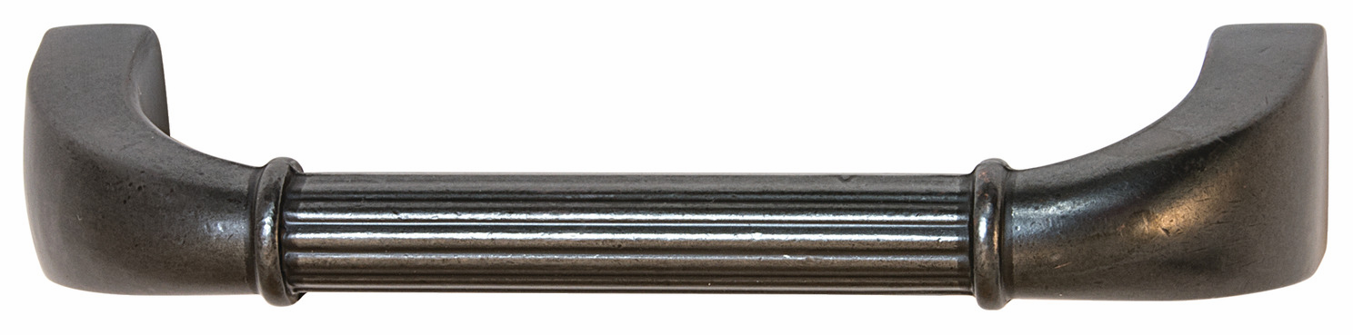 "Hafele 110.93.371 Handle, Keystone, zinc, antique black, 118ZN72, 8-32, center to center 96mm, includes 1"" screws (each)"