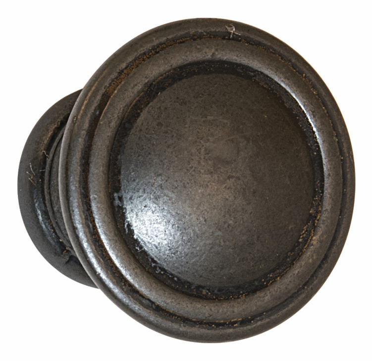 "Hafele 110.93.372 Knob, Keystone, zinc, antique black, 118ZN72, 8-32, diameter 30mm, includes 1"" screws (each)"