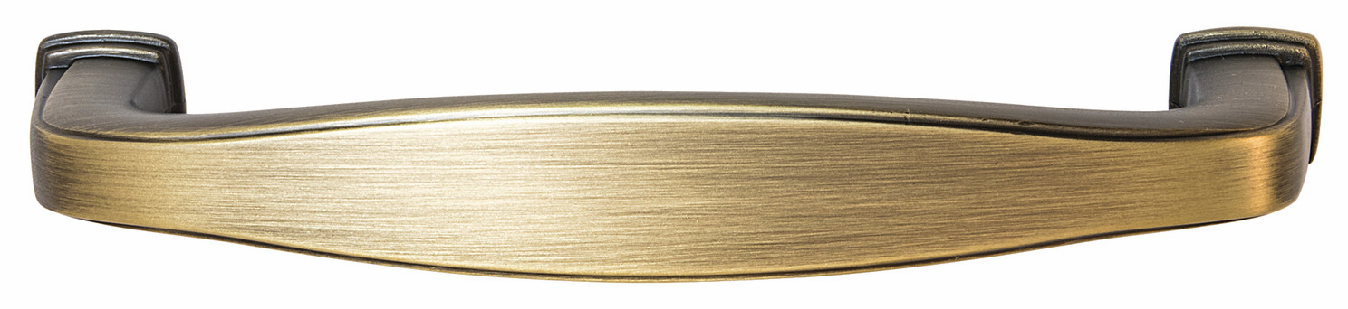 "Hafele 110.93.461 Handle, Keystone, zinc, antique satin brass, 133ZN72, 8-32, center to center 96mm, includes 1"" screws (each)"