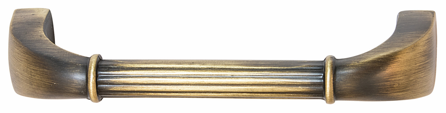 "Hafele 110.93.471 Handle, Keystone, zinc, antique satin brass, 133ZN72, 8-32, center to center 96mm, includes 1"" screws (each)"