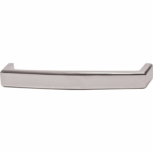 Hafele 116.35.256 Handle, Mulberry, brass, polished nickel, 112BR01, M4, 160mm center to center, with 25mm screws (each)