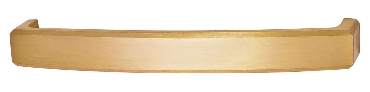 Hafele 116.35.665 Handle, Mulberry, brass, brushed brass, 119BR01, M4, 128mm center to center, with 25mm screws (each)