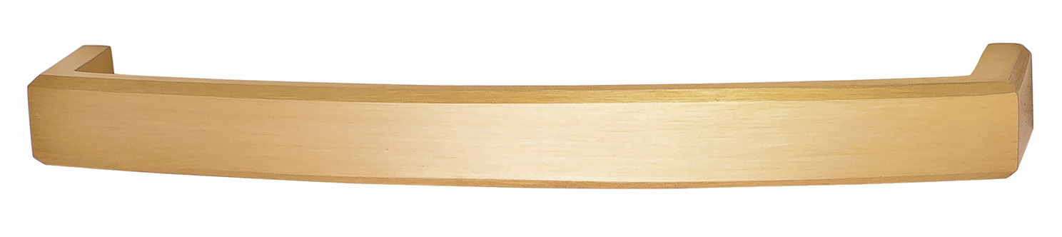 Hafele 116.35.666 Handle, Mulberry, brass, brushed brass, 119BR01, M4, 160mm center to center, with 25mm screws (each)